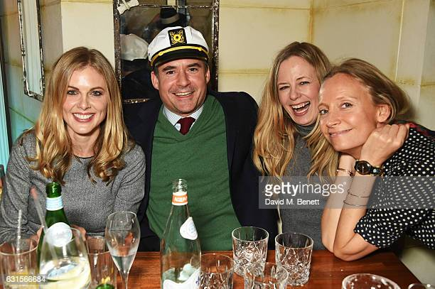 Donna Air Edward Taylor Astrid Harbord and Martha Ward attend the launch of Bunga Bunga in Covent Garden on January 12 2017 in London England