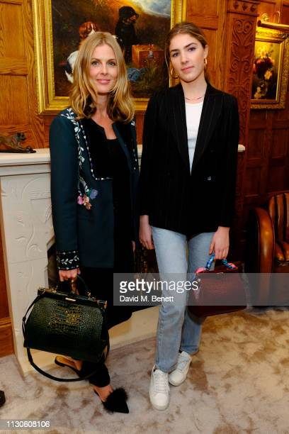 Donna Air Freya Air attends the Aspinal of London presentation during London Fashion Week February 2019 at Aspinal Of London on February 18 2019 in...