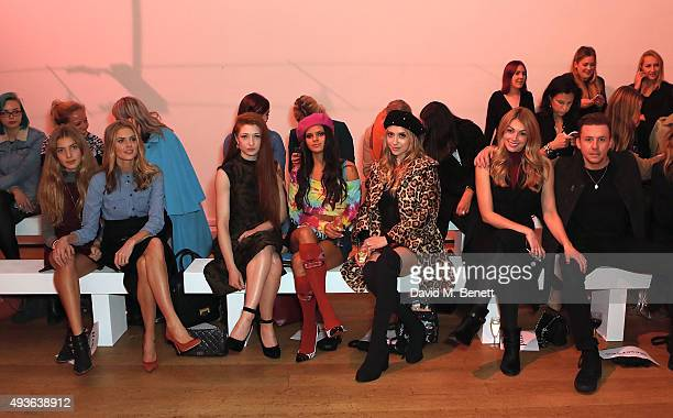 Donna Air Freya Air Nicola Roberts Bip Ling Liz Y2K Goergia Jones and Danny Jones attend the Verycouk fashion presentation at the Hellenic Centre...