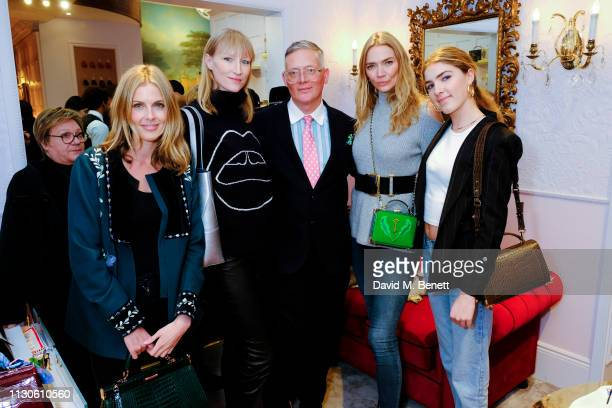 Donna Air Jade Parfitt Giles Deacon Jodie Kidd and Freya Aspinall attends the Aspinal of London presentation during London Fashion Week February 2019...