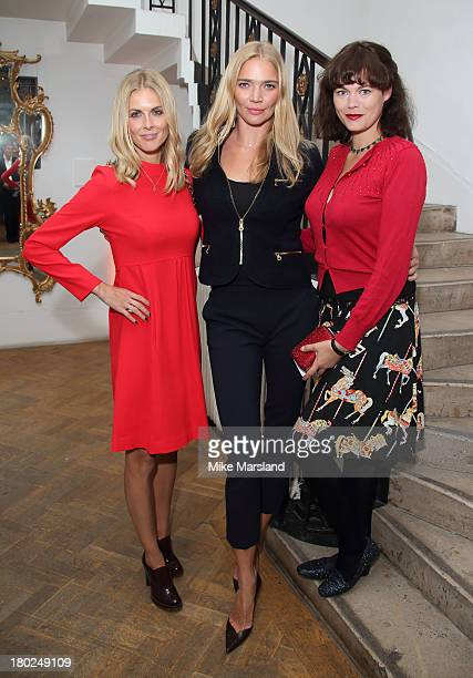 Donna Air Jodie Kidd and Jasmine Guinness attend the 80th anniversary party of iCandy at One Marylebone on September 10 2013 in London England