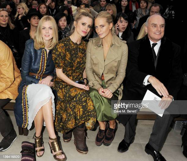 Donna Air Laura Bailey Poppy Delevingne and Nicholas Coleridgeattend the Burberry Autumn Winter 2012 Womenswear Front Row during London Fashion Week...