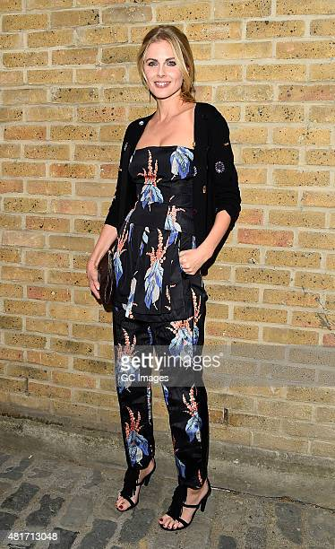 Donna Air leaves Amazon Fashion Studio launch party in East London on July 23 2015 in London England