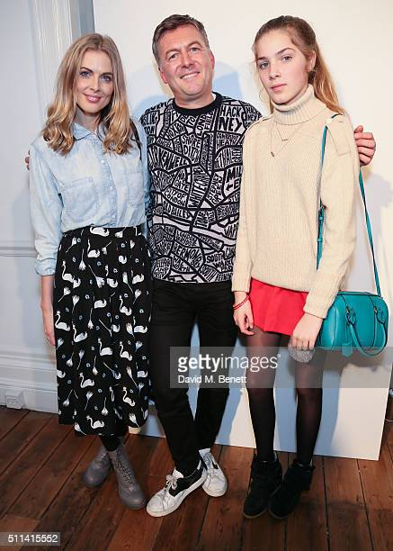Donna Air Marcus Lupfer and Freya Air attend the Markus Lupfer presentation during London Fashion Week Autumn/Winter 2016/17 at 1 Horse Guards Avenue...