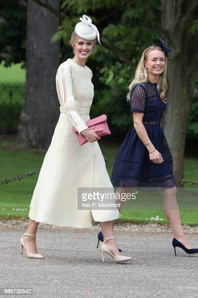 Donna Air seen arriving at St Mark's Church for the Wedding of Pippa Middleton and James Matthews on May 20, 2017 in Englefield, England.