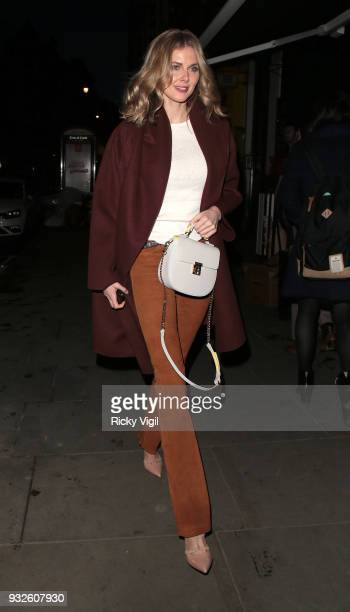 Donna Air seen attending Folli Follie launch party at The White Space on March 15 2018 in London England