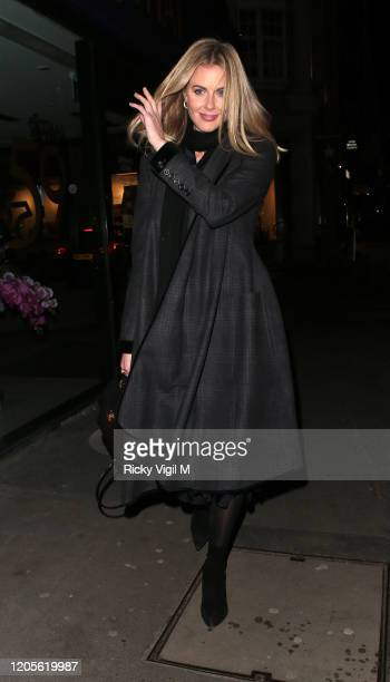 Donna Air seen attending The Elephant Family Dinner at Gymkhana at on February 11 2020 in London England