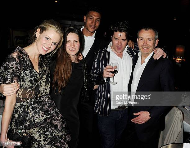 Donna Air Sophie Adam Jay Bothroyd Michael Evans and Piers Adam attend the launch of The Lion popup restaurant at The Brompton Club featuring a...