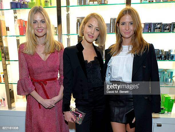 Donna Air Tess Ward and Millie MacKintosh attend a preview party to unveil leading British Luxury Beauty Retailer Space NKs first concept store...
