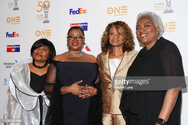 Donna Brasile Yolanda Caraway Leah Daughtry Minyon Moore Leah Daughtry Yolanda Caraway and Donna Brasile attend the 50th NAACP Image Awards...