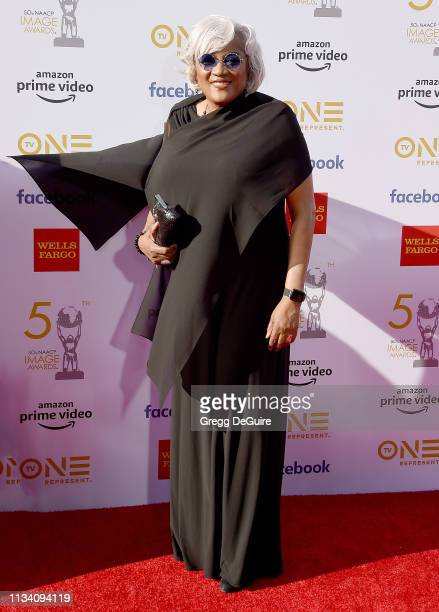 Donna Brazile arrives at the 50th NAACP Image Awards at Dolby Theatre on March 30 2019 in Hollywood California