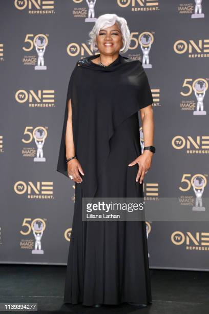 Donna Brazile attends the 50th NAACP Image Awards at Dolby Theatre on March 30 2019 in Hollywood California