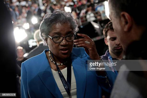 Donna Brazile attends the first day of the Democratic National Convention at the Wells Fargo Center July 25 2016 in Philadelphia Pennsylvania An...