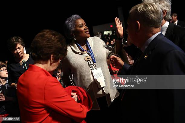 Donna Brazile attends the Presidential Debate at Hofstra University on September 26 2016 in Hempstead New York The first of four debates for the 2016...