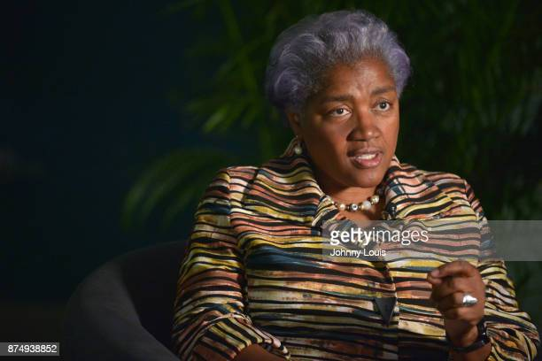 Donna Brazile doing a oneonone interview before her conversation with Ana Navaro during The Miami Book Fair at Miami Dade College Wolfson Chapman...
