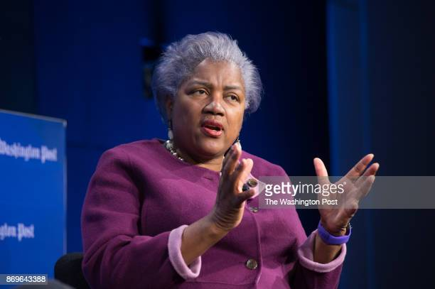 Donna Brazile Former DNC Chairman speaking during The Washington Post via Getty Images live event First 100 Days HALFTIME REPORT on March 22 2017 in...