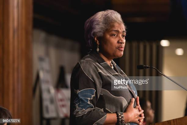 Donna Brazile gives the keynote address at the Stateswomen for Justice luncheon at the National Press Club in Washington DC on Wednesday March 28 2018