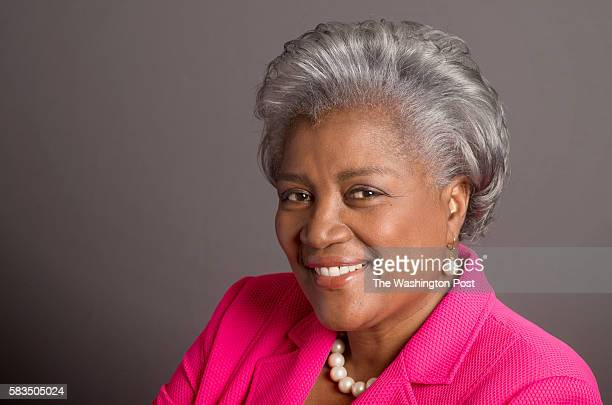 Donna Brazile is an American author academic and political analyst who is Vice Chairwoman of the Democratic National Committee She is photographed in...