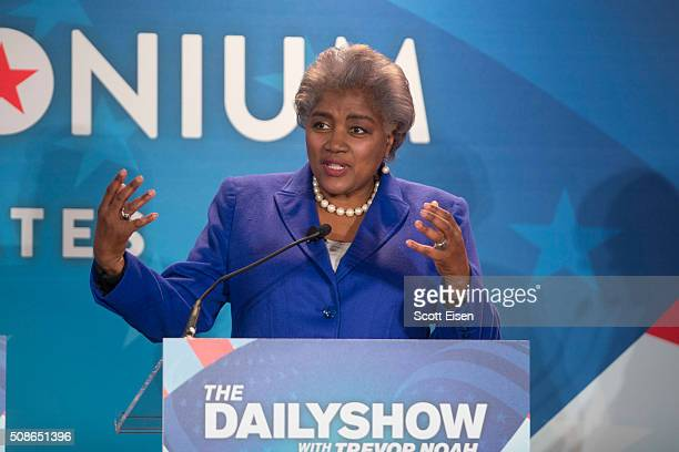 Donna Brazile Vice Chairwoman of the Democratic National Committee and Democratic political strategist during Comedy Central's The Daily Show with...