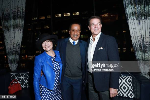 Donna Butts Juan Williams and Shepard Smith during the Arthur Aidala Birthday Party Holiday Party at PHD Rooftop Lounge at Dream Downtown on November...
