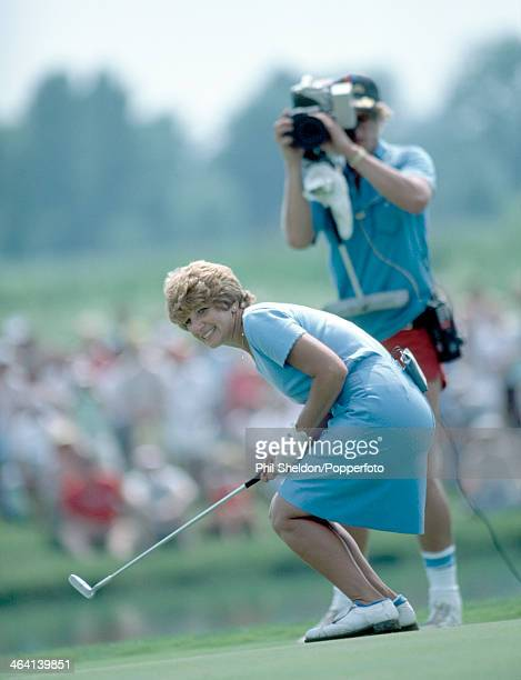 Donna Caponi of the United States tracking her putt during the US LPGA Championship held at the Jack Nicklaus Golf Centre Ohio 14th June 1981 Caponi...