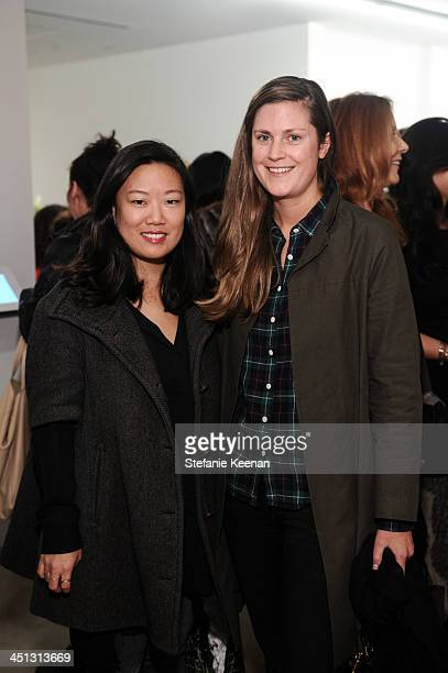Donna Chu and Marie Laure-Simoens attend The Rema Hort Mann Foundation LA Artist Initiative Benefit Auction on November 21, 2013 in Los Angeles,...