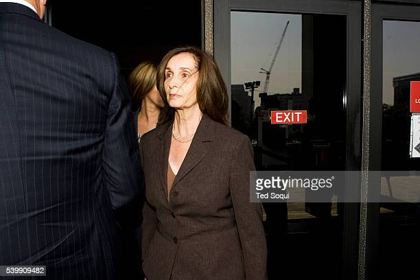 Donna Clarkson, mother of Lana Clarkson, leaves the Los Angeles Crimal Courthouse building. The jury in the murder case against music producer Phil...