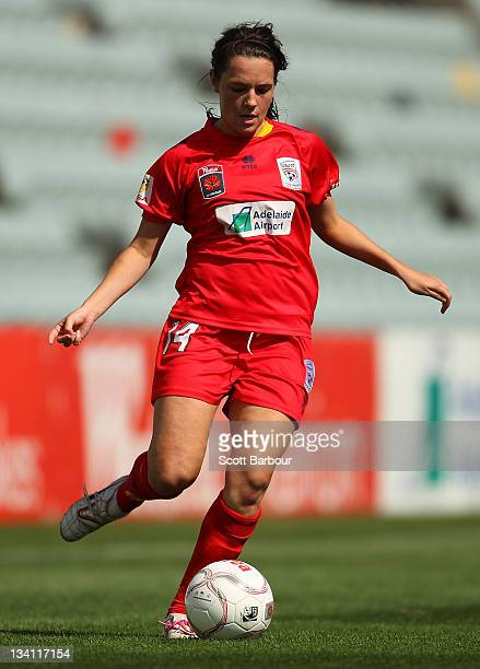 Donna Cockayne of United runs with the ball during the round six WLeague match between Adelaide United and Sydney FC at Hindmarsh Stadium on November...