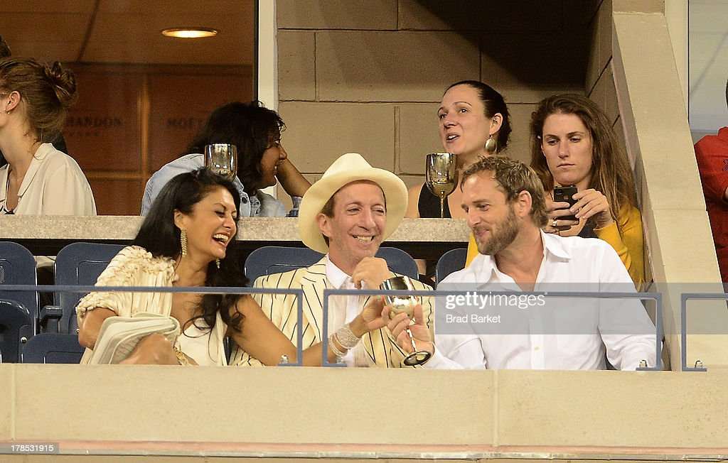 Donna D' Cruz, Tom Silverman and Josh Lucas attend The Moet & Chandon Suite at USTA Billie Jean King National Tennis Center on August 29, 2013 in New York City.