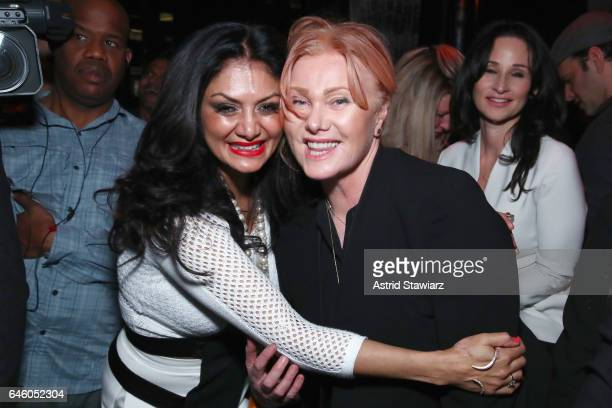 DJ Donna D'Cruz and Deborra Lee Furness attend Tony Robbins' Birthday celebration and book launch of UNSHAKEABLE presented by DuJour Gilt and...