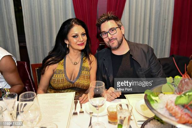 Donna D'Cruz and Justin Bolignino attend an UNBLINDED Dinner Hosted By Jay Abraham Sean Callagy And Shannon O'Donnell on January 11 2020 in Paramus...