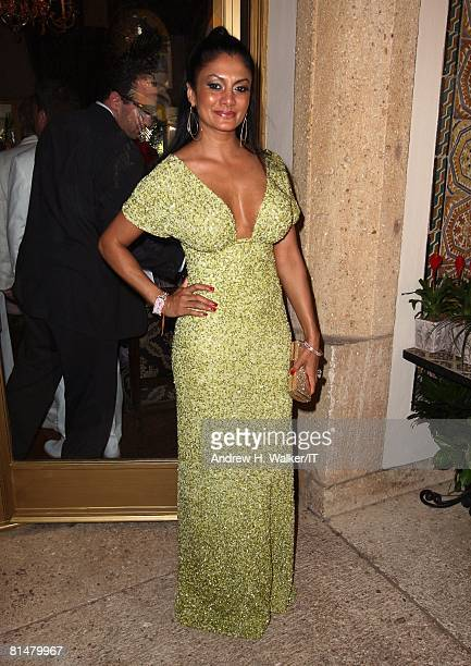 Donna D'Cruz at the wedding of Ivana Trump and Rossano Rubicondi at the MaraLago Club on April 12 2008 in Palm Beach Florida