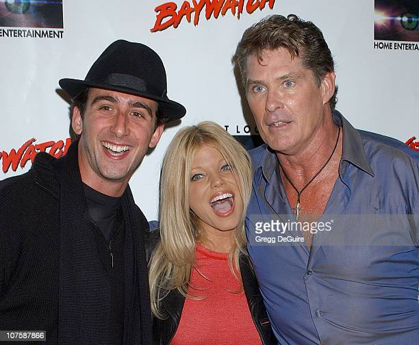 Donna D'Errico and David Hasselhoff with guest