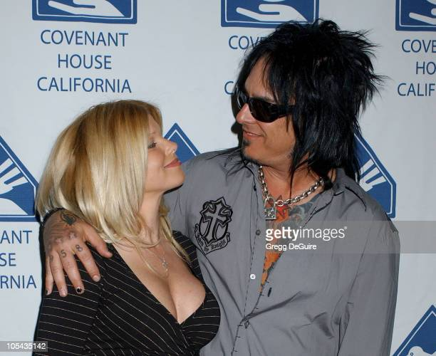 Donna D'Errico and Nikki Sixx during 2005 Covenant With Youth Gala at Beverly Hilton Hotel in Beverly Hills California United States