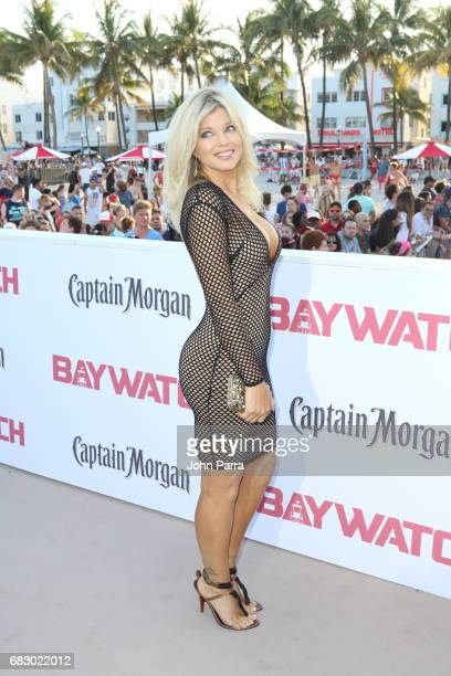 Donna D'Errico attends the world premiere of Paramount Pictures film 'Baywatch' at South Beach on May 13 2017 in Miami Florida