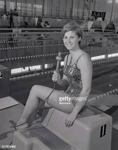 Donna Devarona double Olympic Gold Medal swimming winner who recently announced her 'retirement' at the grand old age of 27 is pictured here one of...