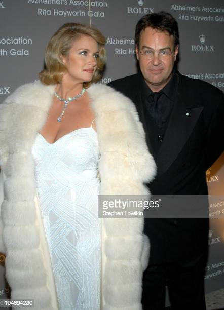 Donna Dixon and Dan Aykroyd during Rita Hayworth Gala Benefiting The Alzheimers Association at The Waldorf Astoria in New York City, New York, United...