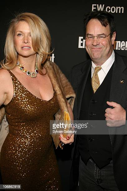 Donna Dixon and Dan Aykroyd during The 78th Annual Academy Awards - Entertainment Weekly New York Viewing Party at Elaine's in New York, New York,...