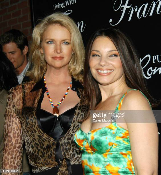 Donna Dixon and Fran Drescher during Fran Drescher Celebrates The Premiere of Living With Fran Sponsored by Pureromancecom at Cain in New York City...