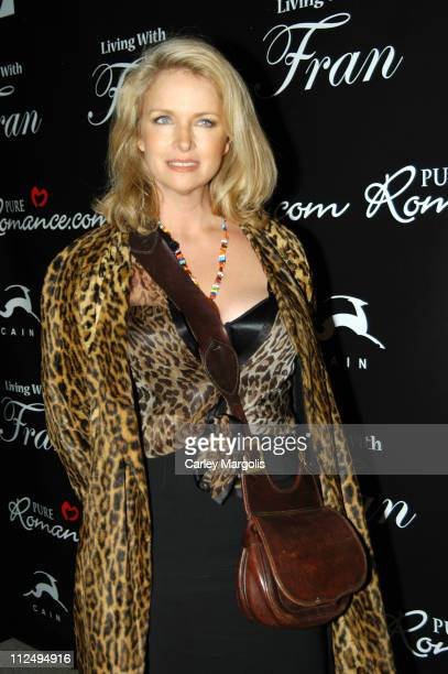 Donna Dixon during Fran Drescher Celebrates The Premiere of Living With Fran Sponsored by Pureromancecom at Cain in New York City New York United...