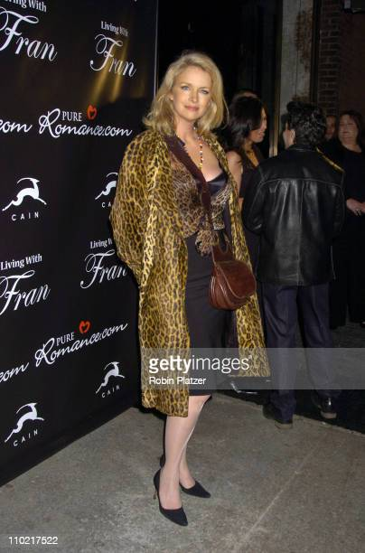 Donna Dixon during Living with Fran Premiere Party Sponsored by PureRomancecom at Cain Lounge in New York City New York United States