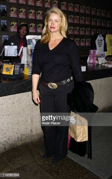 Donna Dixon during The Whitney Biennial 2006 Day for Night Opening at The Whitney Museum of American Art in New York New York United States