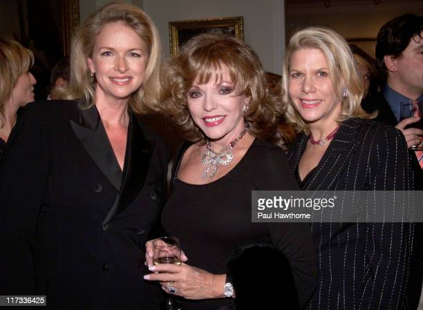 """Donna Dixon, Joan Collins and Francine LeFrak during Prelude Party for the Christopher Reeve Paralysis Foundation's """"A Magical Evening Gala"""" at..."""
