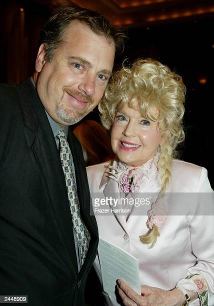 Donna Douglas Ellie May from the Beverly Hillbillies and Dustin Ebsen son of Buddy Ebsen at the Academy of Television Arts and Sciences Auditorium...