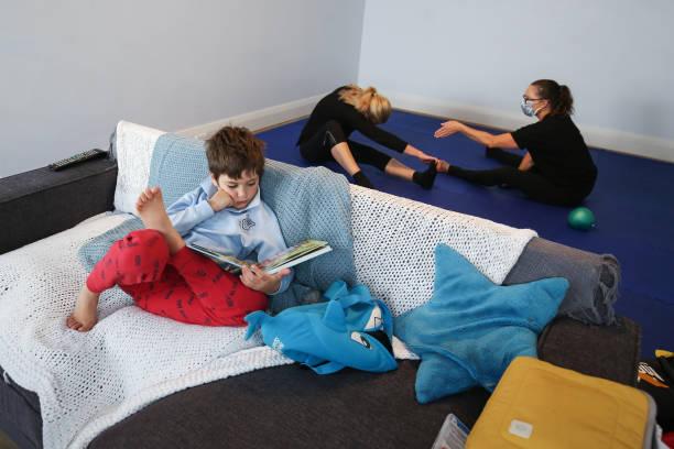 AUS: Sydney Mother Balances Work And Home Schooling During Coronavirus Lockdown