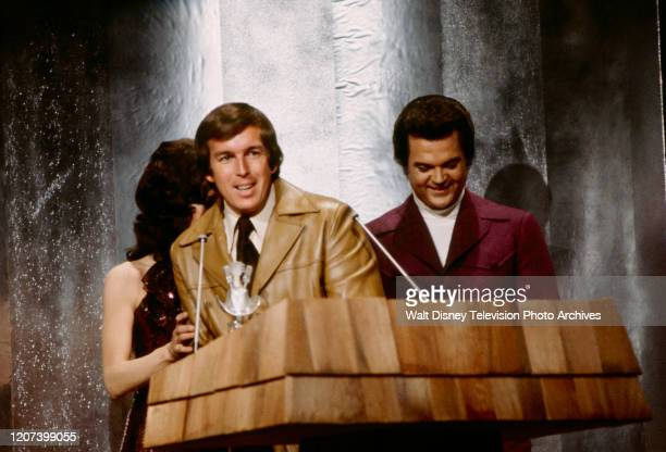Donna Fargo All Star Band member Conway Twitty appearing on the ABC tv special 'The 1974 Country Music Awards'