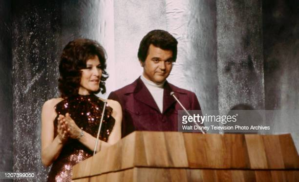 Donna Fargo, Conway Twitty appearing on the ABC tv special 'The 1974 Country Music Awards'.