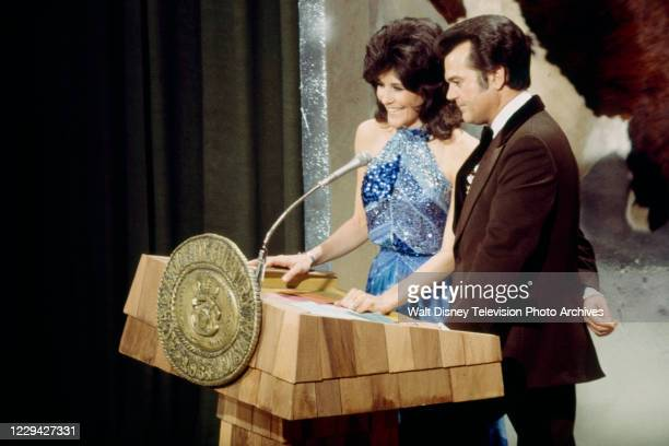 Donna Fargo, Conway Twitty presenting on the ABC tv special '1976 / 11th Academy of Country Music Awards', at the Palladium.
