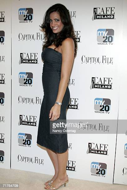 """Donna Feldman of """"Fashion House"""" arrives at the launch of MyNetwork TV, hosted by Capitol File at Cafe Milano August 30, 2006 in Washington, DC."""
