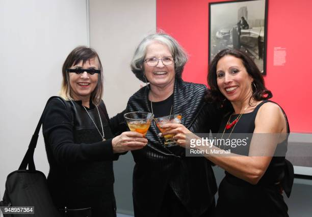 Donna Ferrato Anne Wilkes Tucker and Katie Hollander attend Annenberg Space For Photography's 1st Exhibit of 2018 Not An Ostrich And Other Images...